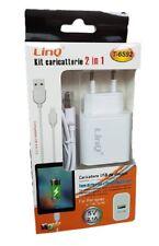 Kit Caricabatterie 2in1 Cavo + Adattatore Usb 5V 2.1A Per Ipad linq T-6s92