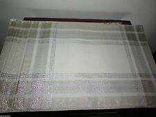 Homewear Table Linens, Set of 4 Metallic Shimmer Plaid Placemats Silver and Gold