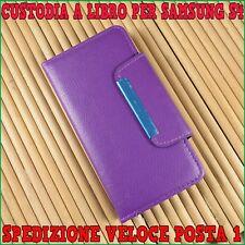 Custodia case a libro portafoglio slim  in ecopelle per samsung S4 i9500 Viola