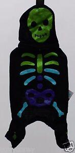 Halloween Martha Stewart Black Skeleton Monster PJ's Pet Dog Shirt Small NWT