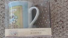 Debbie Mumm Fresh Ground Coffee porcelain mug/cork backed coaster set NEW