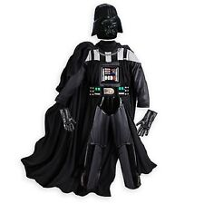 STAR WARS Darth Vader Boys DELUXE Costume Disney Store Mask Belt Cape size 4
