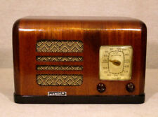 Old Antique Wood Karola Vintage Tube Radio - Restored Working Art Deco Table Top