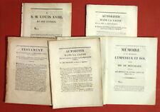 Affaire Bréchard - Nièvre - testament contesté- Dupin avocat 6 documents 1809-13