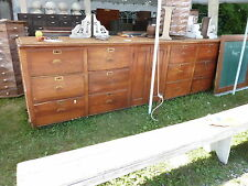 c1910-20 BUILT in PANTRY cabinet COUNTER multi drawer Heart pine 11' x 41