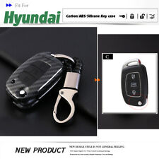 Carbon Car Remote Flip Key Fob Shell Cover For Hyundai Creta I20 Santa Fe Tucson