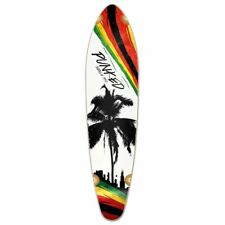 Yocaher Kicktail Longboard Deck - Palm City Rasta