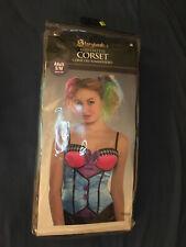 Adult Sexy Mad Hatter Corset Tea Party Wonderland Fancy Dress Small Costume New