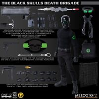 MEZCO TOYZ ONE:12 COLLECTIVE BLACK SKULLS DEATH BRIGADE - READY TO SHIP