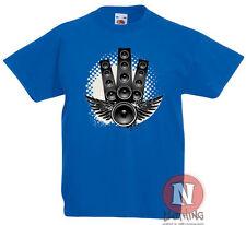 ALTAVOCES Alas Infantil Camiseta 3-13 Años Estampado Diseño Música Rock