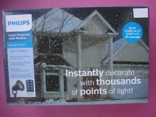 PHILIPS CHRISTMAS HOUSE LIGHTS LASER PROJECTOR WITH MOTION POINTS OF LIGHT NEW