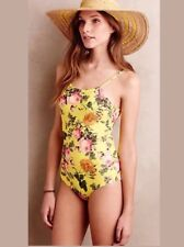 Anthropologie Touche Full Sun Floral One Piece Bathing Swimsuit M Retail $188.00