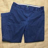 J Crew Womens Size 00 Petite Navy Blue City Fit Stretch Crop Capri Ankle Pants