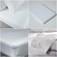500 THREAD COUNT FITTED SHEET SATEEN STRIPE 100% EGYPTIAN COTTON HOTEL QUALITY
