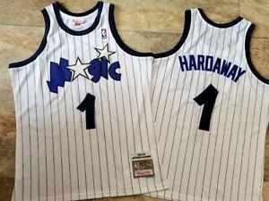 Penny Hardaway Jersey #1 Orlando Magic Retro Throwback Stitched Pinstripe