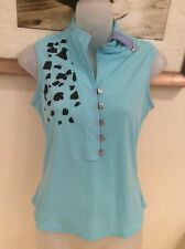 JAMIE SADOCK WOMEN'S SLEEVELESS GOLF TOP STRETCHY ABSTRACT SIZE P NWOT
