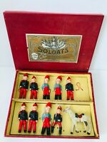 Vintage SFBJ composite military soldiers toy, 1800's, France. Boxed.WOW must see