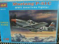 ICM Bausatz 48121 im Maß 1:48:  Mustang P-51C-WWII American Fighter