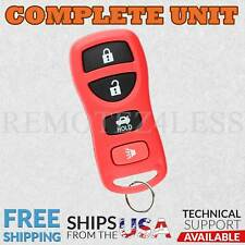 Keyless Entry Remote for 2002 2003 2004 2005 2006 Nissan Maxima Car Key Fob Red