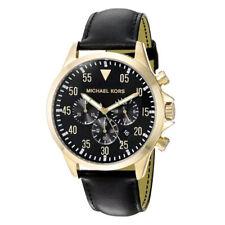 Michael Kors MK8618 Men's Gage Black Dial Strap Chronograph Watch