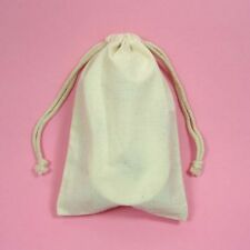 """24 High Quality 4""""x 6"""" Unbleached Muslin Pouches"""
