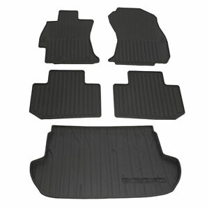 OEM NEW 14-18 Subaru Forester Front & Rear & Cargo Area All Weather Floor Mats