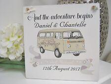 Handmade Personalised Wedding Gift Vintage Camper-van Volkswagen Plaque fun