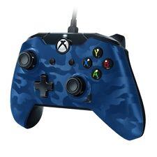 PDP Wired Controller für Microsoft Xbox One und Windows 10 PC Blau Camo Neu Ovp