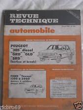 REVUE TECHNIQUE AUTOMOBILE RTA N° 407 PEUGEOT 305 DIESEL GRD GLD SRD
