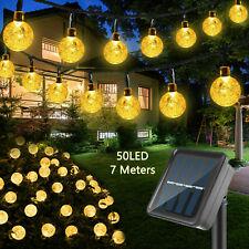 Solar Powered 50 Led String Light Garden Path Decor Lamp Outdoor Waterproof
