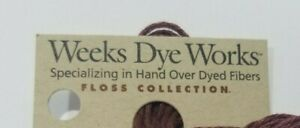 Weeks Dye Works Hand Over Dyed Cotton Floss You Choose Your Color 5 yd 6 Strand
