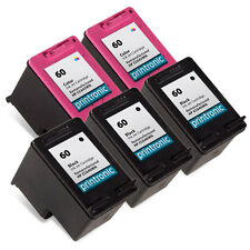5pk Printronic For HP 60 Color Black Ink Cartridge Photosmart Deskjet Envy