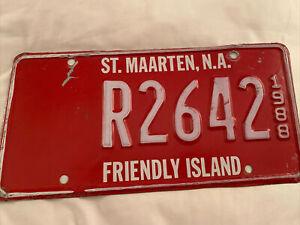 Vintage 1988 St. Maarten 🇳🇱 License Plate. #R2642