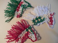 3 Shuttle Tatted Christmas Miniature Horses Set A by Dove Country Tatting