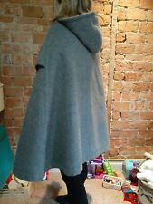 Vintage Saks Fifth Avenue Grey Luscious Wool Cape Coat M