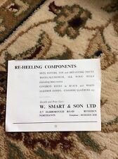 R1 Ephemera 1966 Advert W Smart & Son Ltd Rushden