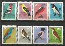BULGARIA Scott# 1395-1402 Pájaros 1965