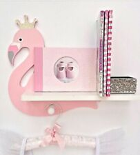 FLAMINGO WALL SHELF❤Christmas gift bird tropical animal book wild life cd house