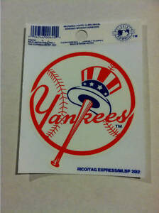 New York Yankees Tophat Static Cling Decal