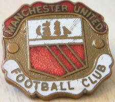 Manchester United escudo del club Vintage Tipo Insignia Broche Pin Dorado 25mm X 24mm