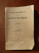 Antico libro LO STATO DEL IN AFFITTO per A.PENELLE