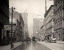 "1908 Old Time Photo, Cincinnati,Ohio, Antique City View, 8""x11"" print- Horses"