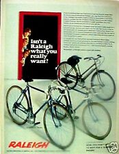 1972 Raleigh Boys~Girls Bicycles 10 Speeds Bike Ad