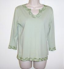 """Hasting & Smith Petites Green Pull Over Top Size PM  Bust 36"""" Length 23 1/2"""""""
