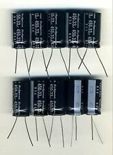 LOT DE 10 CONDENSATEURS HAUTE TENSION 33 µF - 450 Volts