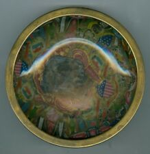 Unusual Early 1900's European Cigar Bands Bowl w/Photo of 2 WWI Era Soldiers