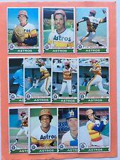 1979 OPC O-Pee-Chee Astros team set NM to NM-MT Cedeno Richard Cruz