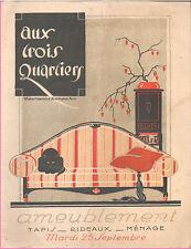 ▬►Catalogue AUX TROIS QUARTIERS HIVER 1925 ART DECO BIBELOTS_AMEUBLEMENT_LUSTRES