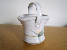 John Warren  studio pottery   flower basket / bowl / vase
