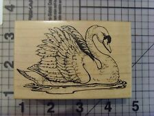 PSX (PERSONAL Stamp Exchange) legno montato timbro, singolo Swan Serene & calma